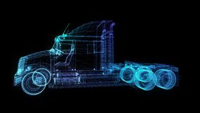 卡车 E 转动360度 4K动画 皇族释放例证