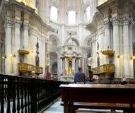 卡迪士大教堂 La Catedral Vieja, Iglesia de圣克鲁斯 安大路西亚,西班牙 免版税图库摄影
