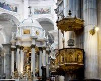 卡迪士大教堂 La Catedral Vieja, Iglesia de圣克鲁斯 安大路西亚,西班牙 库存图片