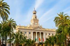 卡迪士市政厅西班牙 库存图片