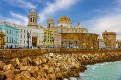 卡迪士西班牙 沿海岸区Cathedral园地del苏尔 库存图片