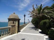 卡迪士,西班牙散步  库存照片