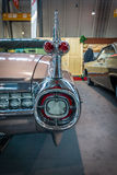 卡迪拉克小轿车DeVille的片段, 1959年 免版税图库摄影