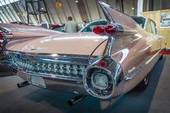 卡迪拉克小轿车DeVille的片段, 1959年 库存照片