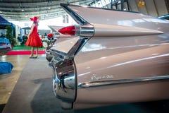 卡迪拉克小轿车DeVille的片段, 1959年 图库摄影