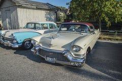 1957年卡迪拉克小轿车deVille 免版税库存照片