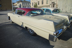 1957年卡迪拉克小轿车deVille 免版税库存图片