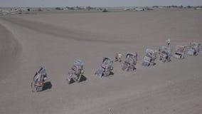 卡迪拉克汽车的汇集在卡迪拉克大农场的 股票录像