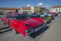 1961年卡迪拉克系列62 6窗口轿车 免版税库存照片