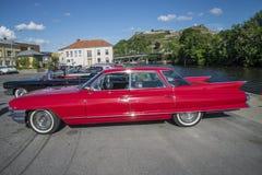 1961年卡迪拉克系列62 6窗口轿车 免版税库存图片
