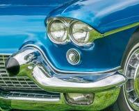 1958年卡迪拉克黄金国车灯反射 免版税图库摄影