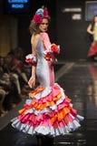 卡门Rojo在Pasarela Flamenca赫雷斯陈列汇集2015年 库存照片