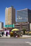 卡马乔大道在拉巴斯,玻利维亚 图库摄影