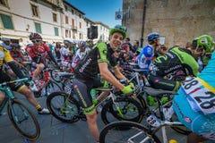 卡马伊奥雷,意大利- 2015年3月12日:达维德Formolo 免版税图库摄影