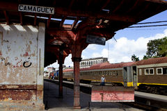 卡马圭火车站 免版税库存图片