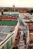 卡马圭联合国科教文组织世界遗产名录中心从上面 步行街道的看法 鸟瞰图 免版税库存照片