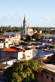 卡马圭联合国科教文组织世界遗产名录中心从上面 免版税库存照片