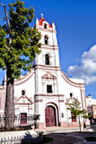 卡马圭,古巴;Iglesia de Nuestra夫人de la Plaza的de los Trabajadores默塞德教会 免版税库存照片