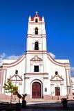 卡马圭,古巴;Iglesia de Nuestra夫人de la Plaza的de los Trabajadores默塞德教会 免版税图库摄影