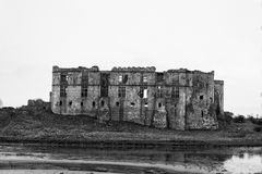 卡鲁城堡Pembrokeshire南威尔士英国 免版税库存图片