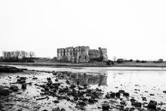 卡鲁城堡Pembrokeshire南威尔士英国 图库摄影