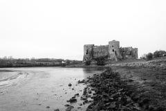 卡鲁城堡Pembrokeshire南威尔士英国 库存图片