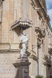 卡默利特平纹薄呢教会在Mdina,马耳他 免版税库存照片