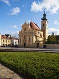 卡默利特平纹薄呢教会城市gyor匈牙利 免版税库存照片
