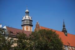卡齐米日的科珀斯克里斯蒂教会在克拉科夫波兰 图库摄影