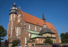卡齐米日的科珀斯克里斯蒂教会在克拉科夫波兰 免版税库存图片
