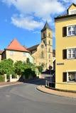 卡默利特平纹薄呢教会在琥珀, Franconia,德国 库存图片