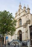 卡默利特平纹薄呢教会,布鲁塞尔,比利时 免版税图库摄影
