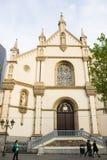 卡默利特平纹薄呢教会,布鲁塞尔,比利时 库存照片