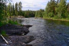 卡累利阿人的河 库存图片