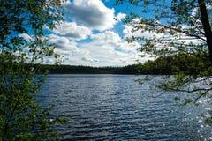 卡累利阿人的湖 库存照片