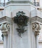 卡洛・哥尔多尼雕象,细节,意大利,欧洲 图库摄影