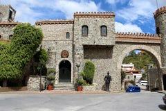 卡维在墨西哥城堡 免版税库存照片