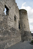 卡洛城堡废墟  图库摄影