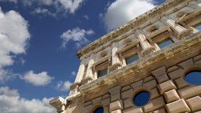 卡洛斯五世,阿尔罕布拉宫,格拉纳达,西班牙新生宫殿  股票视频