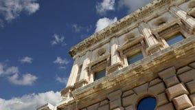 卡洛斯五世,阿尔罕布拉宫,格拉纳达, SpainÂ新生宫殿  股票录像