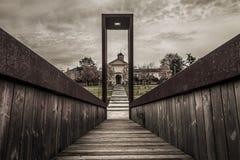 卢伊诺(意大利),教会 免版税图库摄影