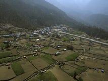 卢克拉机场珠穆琅玛地区尼泊尔 库存照片