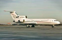 卢克石油Avia雅克夫列夫雅克-42 RA-42424 免版税库存图片