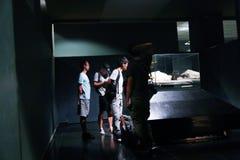 卢克索博物馆的-埃及游人 库存照片