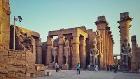 卢克索神庙在埃及 免版税库存图片