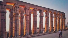 卢克索神庙在埃及 免版税库存照片