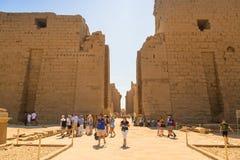 卢克索,埃及卡纳克神庙寺庙  免版税库存照片