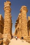 卢克索,埃及卡纳克神庙寺庙  免版税库存图片
