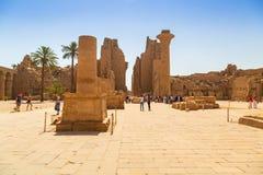 卢克索,埃及卡纳克神庙寺庙  库存图片