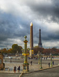 卢克索方尖碑在巴黎 库存图片